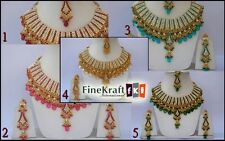 Wholesale Latest Wedding Designer Handmade Kundan Zircon Choker Necklace Jewelry