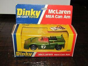 Dinky  223 McLaren M8A Can Am Metallic Light Green Mint In Original Card Box