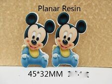 5 x 32mm BABY MICKEY MOUSE LASER CUT FLAT BACK RESIN HEADBANDS CARD MAKING
