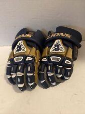 "Brine King IV 13"" Lacrosse Gloves Dark Blue And Gold"