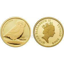 Tuvalu 2005 Owl 1/10 oz Gold BU Coin
