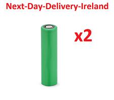 2x 18650 Flat Top High Drain Rechargeable Battery Batteries Mech Torch Mod