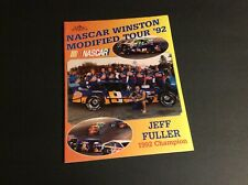 1992 Nascar Winston Modified Tour Yearbook