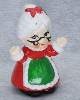"Vintage Hand-painted Ceramic Figurine Mrs. Claus 4"" Tall"