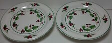 Sango White Christmas pedestal plates / servers Korea
