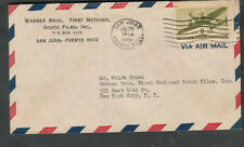 Aug 29 1945 WWII cover Warner Brothers San Juan Puerto Rico to John Dodd NY