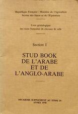Stud Book de l'Arabe et de l'Anglo Arabe - Races françaises de chevaux de selle
