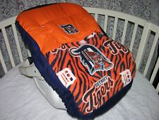 NEW INFANT CAR SEAT CARRIER COVER M/W DETROIT TIGERS FABRIC