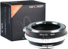 K&F Concept Lens Mount Adapter for Nikon G Lens to M43 Micro Four Thirds Cameras