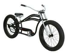 Stretch Beach Cruiser Extended Big Fat Tire Bike Comfort Spring Seat Matte Black