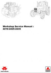 MASSEY FERGUSON MF2210 MF2225 MF2235 TRACTOR WORKSHOP MANUAL