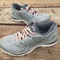 Asics Gel Nimbus 20 T850N Womens Size 8.5 Grey/Pink  Athletic Running Shoes