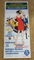 PENELOPE ORIGINAL 1966 DAYBILL CINEMA FILM POSTER Natalie Wood RARE 60s