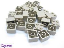 LEGO PART 3003 BRICKS 2X2 DARK TAN 30 PIECES ARCHITECTURE SAND YELLOW BRAND NEW