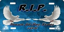 Personalized Custom License Plate Auto Car Tag R.I.P.