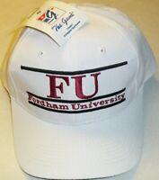 Fordham FU University 90s Vintage The Game Original Snapback hat Ncaa New white