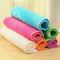 1 Pc Highly Bamboo Fiber Kitchen Hand Towel IN Stock Dish Cloth Rags Set  BLUS