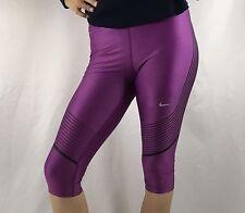 NIKE Power Speed Women's Capri Leggings Pants Dri-Fit Purple 801694 $110 Size S
