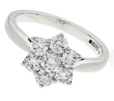 1.00ct Certified D IF Round Brilliant Cut Diamond Daisy Ring, in 18ct White Gold