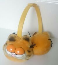Vintage GARFIELD EAR MUFFS orange cat winter retro 1978 1981