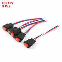 5 x Car Accident Hazard Warning Double Flash Light Pushbutton Switch DC 12V