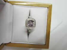 STUNNING ESTATE 14 KT GOLD 1.49 CTW. VIVID PURPLE SPINEL & DIAMOND RING !!!!!