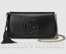 GUCCI black SOHO Interlocking G Medium Cross -Body chain bag NWT Authentic $990!