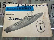 Modellbau Bismarck Baupläne 1:200 Spantenriss Bauplan
