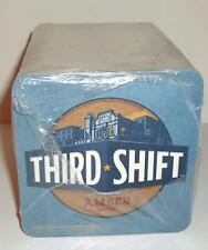 """Third Shift Amber Lager Beer Coasters Factory 4"""" 100 Square Full Sleeve pack Bar"""