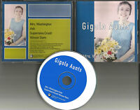 GIGOLO AUNTS Mrs. Washington w/ 3 UNRELEASED TRX Europe CD single USA seler 1994
