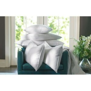 PACK OF 4 Natural Duck Feather Pllows LOWEST PRICE - Free P&P - 100% Cotton Case