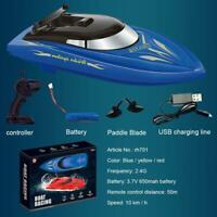 2.4GHz High Speed Remote Control Boat Kids Toy Gifts D5L6