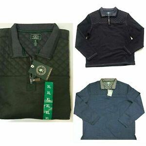 G.H. Bass & Co. Men's Quilted 1/4 Zip Fleece NIGHT SKY HEATHER Men's