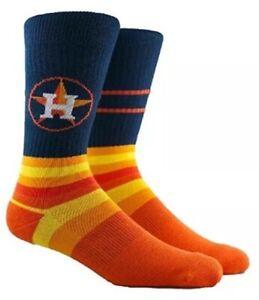 Houston Astros Parkway Crew Socks New Mlb Baseball Men's 6-12