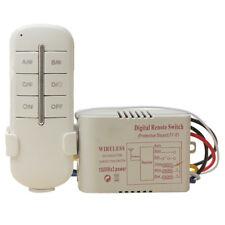 TUOXIN Wireless 3 Kanal ON/OFF 220V Lampe Schalter Fernbedienung Funk Sende A1L4