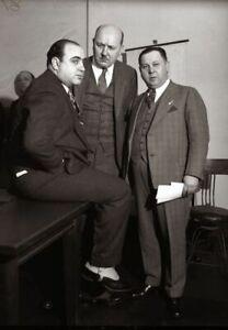 Al Capone with attorneys Chicago Mob Mafia vintage photo reproduction  086