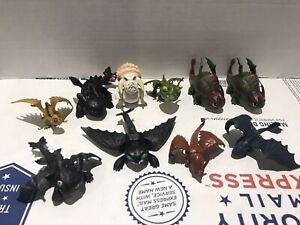 "How To Train Your Dragon Mini Figure Lot Of 10 Toothless +++ Good Cond 3""-4"""