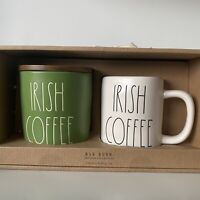 New Rae Dunn Green Irish Coffee Cellar & Mug Set - Online Exclusive