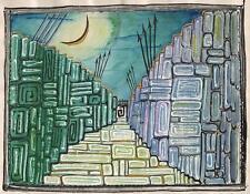 Surrealismo dos ejércitos en la Luna Pintura Linda Carmen c1940 Abstracto