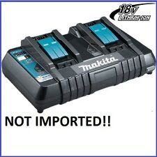 Makita DC18RD 18V Li-Ion Cordless Battery Rapid Fast Dual Port Charger