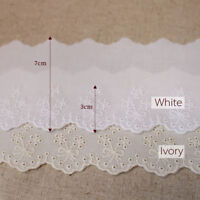 """14Yds Broderie Anglaise cotton eyelet lace trim 3""""(7cm) YH1548 laceking2013"""