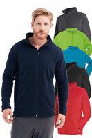 Mens Uni Sex BLACK RED GREY Breathable Lightweight Full Zip Micro Fleece Jacket