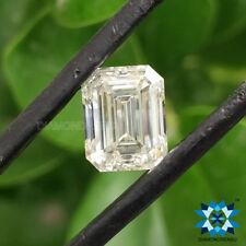 4.00 Ct Elongated Emerald Step Cut Near White I J Color Loose Moissanite Diamond
