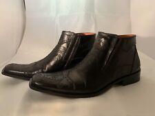 Robert Wayne Men's Durango Black Ankle Boots w/ etching Size US 10 w/ box