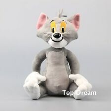 Anime Tom and Jerry the Cat Tom Plush Toy Soft Stuffed Animal Doll 11'' Gift