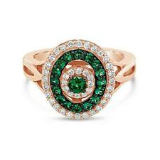 Le vian Шоколатье ® кольцо-изумруды ™ ваниль/шоколад бриллианты ® 14K розового золота