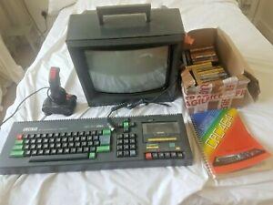 1984 Amstrad cpc 464 Computer With User Manual, Games, Joysticks