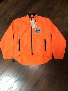 CANARI Men's Solar Flare Cycling Bike Jacket to Vest Sz S Solar Orange NWT E2