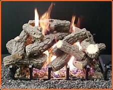 "Sierra Majestic Oak Gas Log Kit with Bi-Flo Burner - Nat. Gas 24"" Vented Gas Log"