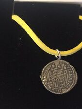"Constantine Coin WC26 Made From Fine English Pewter On 18"" Yellow Cord Necklace"
